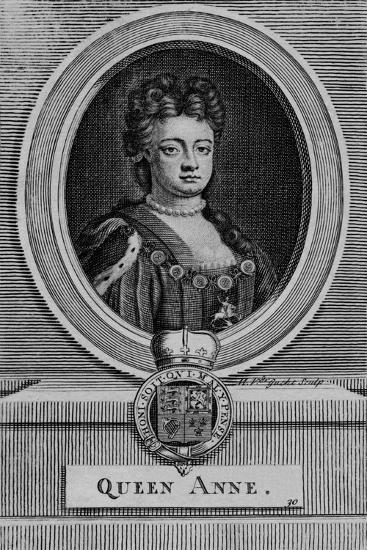 Queen Anne, c18th century-Michael Vandergucht-Giclee Print