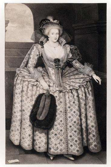 Queen Anne of Denmark-Paul van Somer-Giclee Print