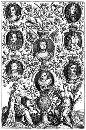 Queen Anne's (1665-171) Family Tree--Giclee Print