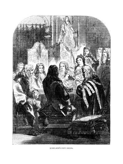 Queen Anne's (1665-171) Privy Council--Giclee Print