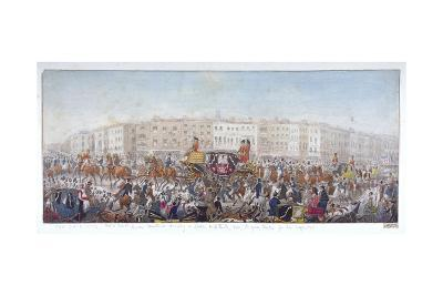 Queen Caroline Travelling to St Paul's Cathedral, London, 20th November 1820--Giclee Print