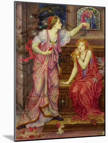 Queen Eleanor and Fair Rosamund-Evelyn De Morgan-Mounted Giclee Print