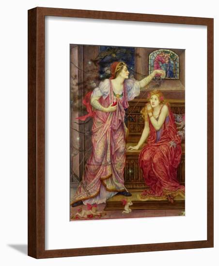 Queen Eleanor and Fair Rosamund-Evelyn De Morgan-Framed Giclee Print
