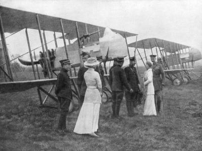 Queen Elisabeth of Belgium Visiting Allied Pilots, C1915--Giclee Print
