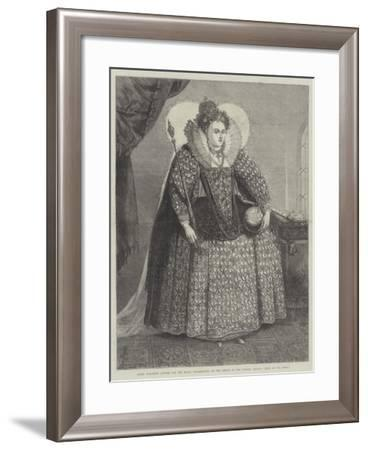 Queen Elizabeth Attired for the Royal Thanksgiving on the Defeat of the Spanish Armada--Framed Giclee Print