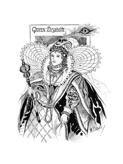 Queen Elizabeth I (1533-160), 1897-M Bowley-Giclee Print