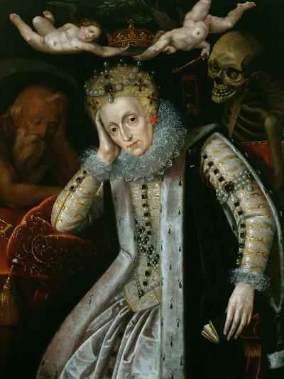 Queen Elizabeth I (1538-1603) in Old Age, C.1610--Giclee Print