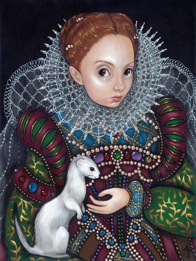 Queen Elizabeth I and an Ermine - a Tudor Portrait-Jasmine Becket-Griffith-Art Print