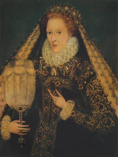 Queen Elizabeth I, c1580. (1941)-Unknown-Giclee Print
