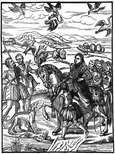 Queen Elizabeth I Hawking, 1575--Giclee Print