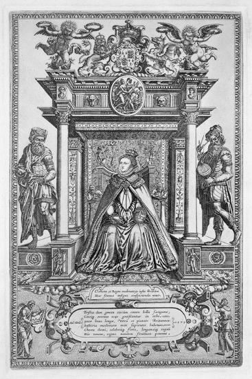 Queen Elizabeth I of England as Patron of Geography and Astronomy, 1579-Unknown-Giclee Print