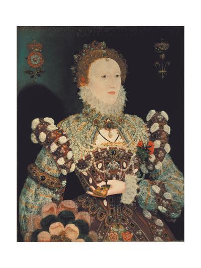 Queen Elizabeth I - the Pelican Portrait, C.1574-Nicholas Hilliard-Giclee Print