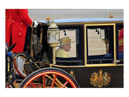 Queen Elizabeth II at her Annual Birthday Parade Trooping the Colour--Art Print