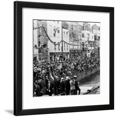 Queen Elizabeth Ii at St Peter Port in Guernsey 1957-Malcolm MacNeil-Framed Photographic Print