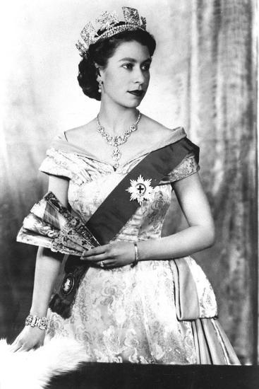 Queen Elizabeth II of England (Daughter of Georgevi) Here in 1952--Photo