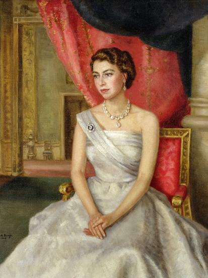 Queen Elizabeth Ii Giclee Print By Lydia De Burgh Art Com