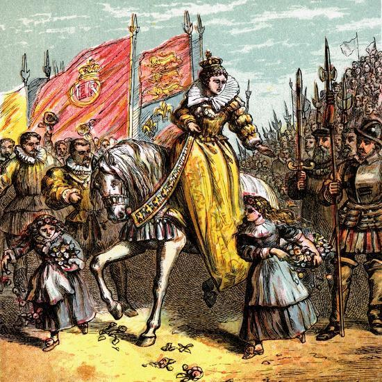Queen Elizabeth's Accession, 1558--Giclee Print