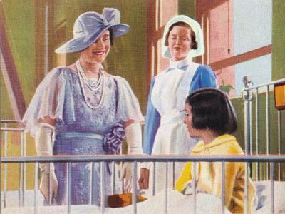 Queen Elizabeth Visiting a Children's Ward at the Middlesex Hospital, 1935--Giclee Print