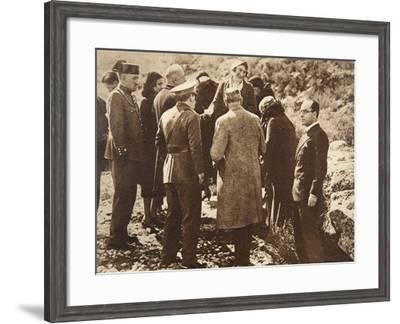 Queen Ena of Spain Going into Exile, April 15, 1931--Framed Giclee Print