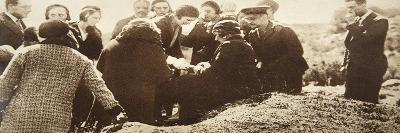 Queen Ena of Spain Signing Autographs for Her Ladies in Waiting before Going into Exile--Giclee Print