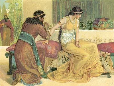 Queen Esther and Haman-English School-Giclee Print