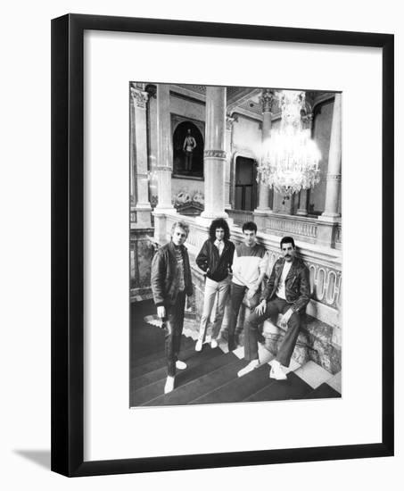 Queen in Vienna-Associated Newspapers-Framed Photo