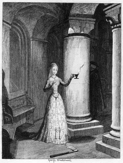 Queen Jane's First Night in the Tower, 1553-George Cruikshank-Giclee Print