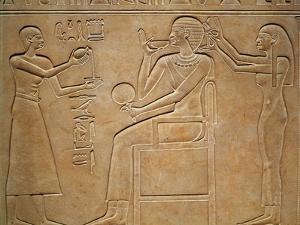 Queen Kawit at Her Toilet, from the Sarcophagus of Queen Kawit, Found at Deir El-Bahri