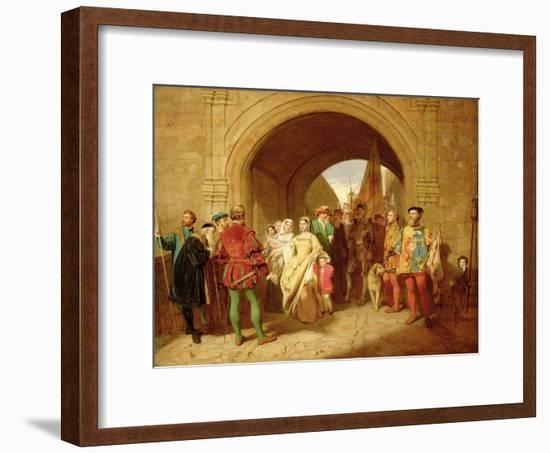 Queen Margaret's Defiance of the Scottish Parliament, 1859-John Faed-Framed Giclee Print