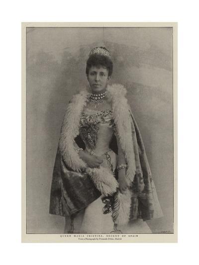 Queen Maria Cristina, Regent of Spain--Giclee Print