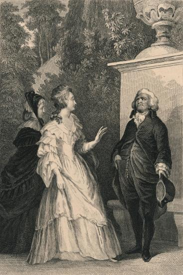 Queen Marie Antoinette and Mirabeau, C1832-Charles W Sharpe-Giclee Print