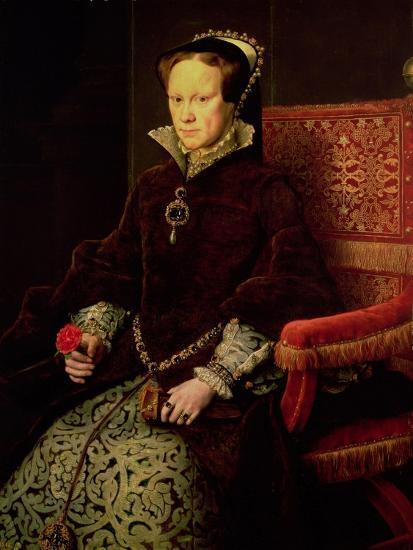 Queen Mary I (1516-58) 1554-Antonis Mor-Giclee Print
