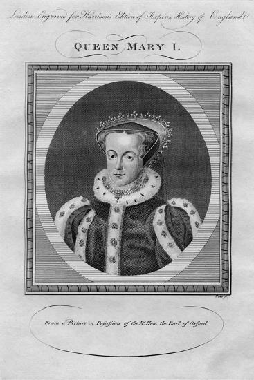 Queen Mary I, 1780s--Giclee Print