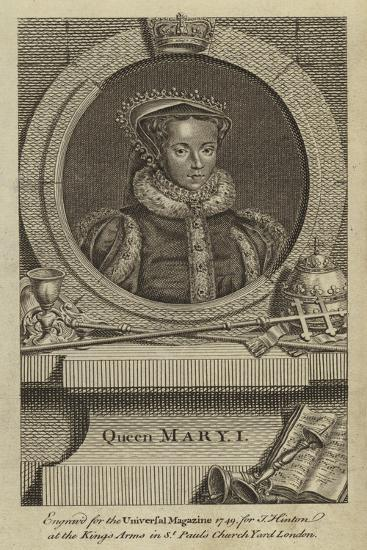 Queen Mary I--Giclee Print