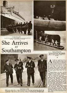 Queen Mary' Ocean Liner, at Southampton