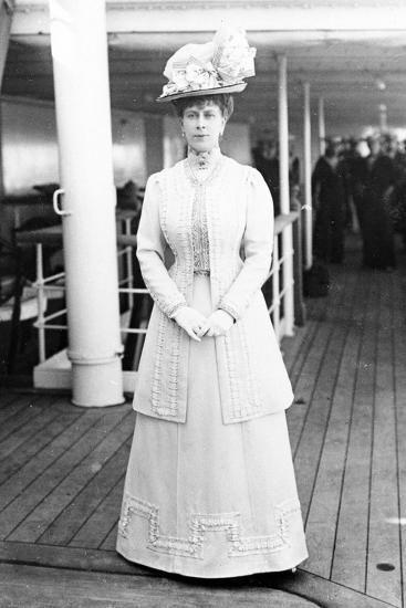 Queen Mary on Board the H.M.S. Medina, 1911--Photographic Print