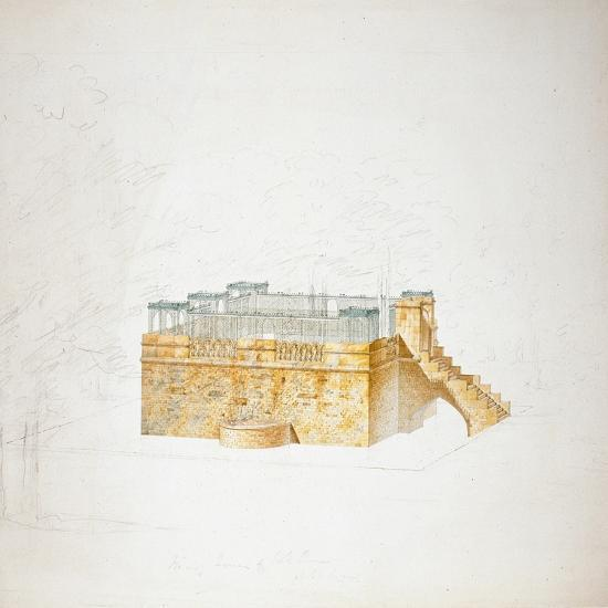 Queen Mary's Bower, Chatsworth-Sir Jeffry Wyatville-Giclee Print