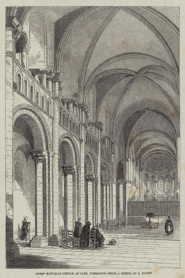 Queen Matilda's Church at Caen, Normandy--Giclee Print