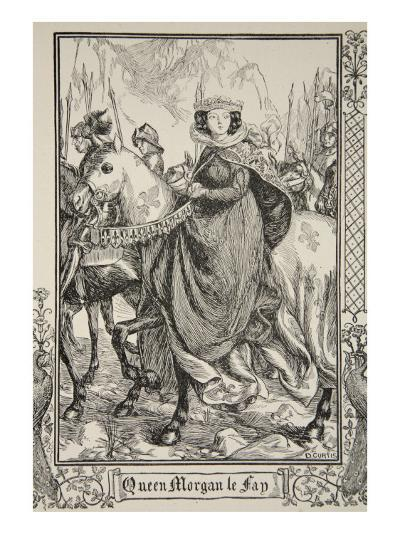 Queen Morgan le Fay, illustration, 'Stories of King Arthur and the Round Table' by Beatrice Clay-Dora Curtis-Giclee Print