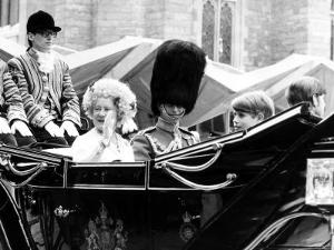 Queen Mother and Prince Charles, Prince Edward and Prince Andrew in Carriage at Silver Jubilee 1977