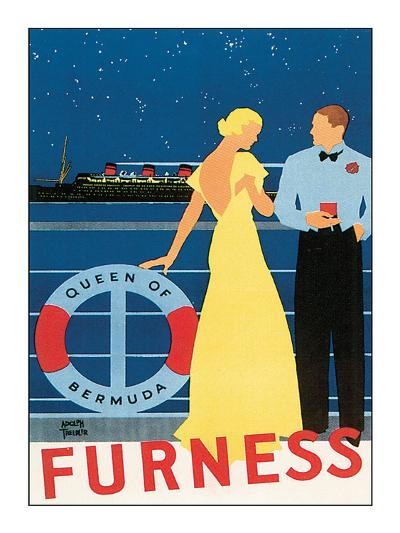Queen of Bermuda-Adolph Treidler-Art Print