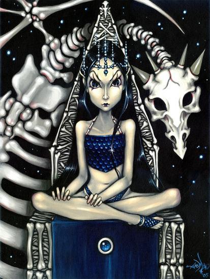 Queen of Bones (Bone Dragon)-Jasmine Becket-Griffith-Art Print