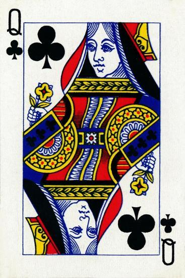 Queen of Clubs from a deck of Goodall & Son Ltd. playing cards, c1940-Unknown-Giclee Print