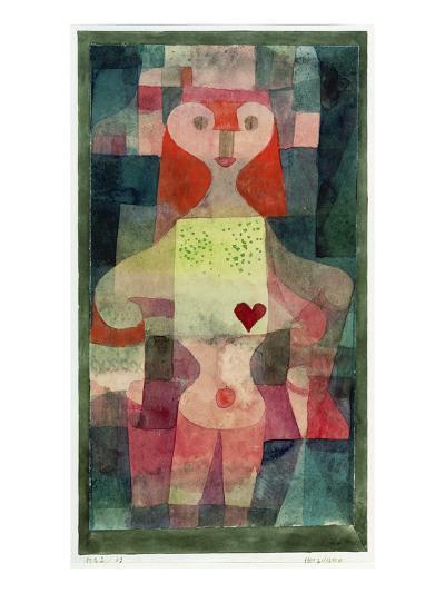 Queen of Hearts (Herzdame), 1922-Paul Klee-Giclee Print