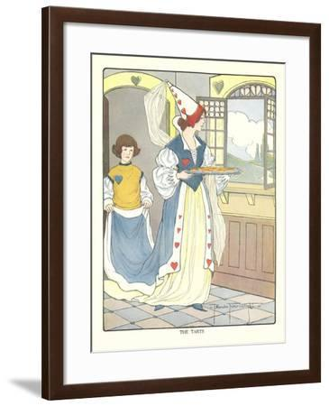 Queen of Hearts with Tarts--Framed Art Print
