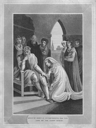 'Queen of Richard II. Interceeding for the Life of Sir Simon Burley', 1838-Unknown-Framed Giclee Print
