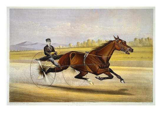 Queen of the Turf, 'Maud S', Driven by W.W. Bair, Lithograph-Nicholas Winfield Leighton-Giclee Print
