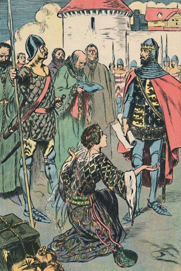 'Queen Philippa Pleads for the Men of Calais', c1907-Unknown-Giclee Print