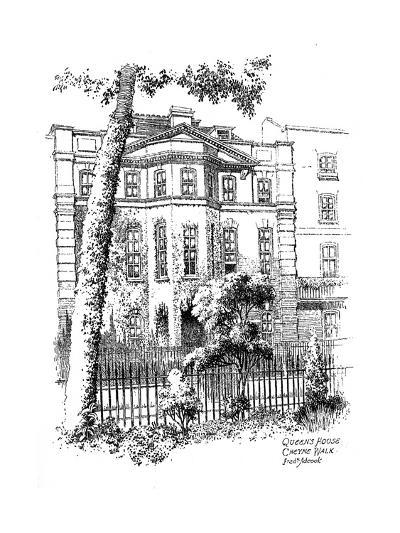 Queen's House, Cheyne Walk, Chelsea, London, 1912-Frederick Adcock-Giclee Print