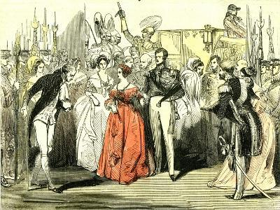 Queen's Visit to the Opera House 1846, London--Giclee Print